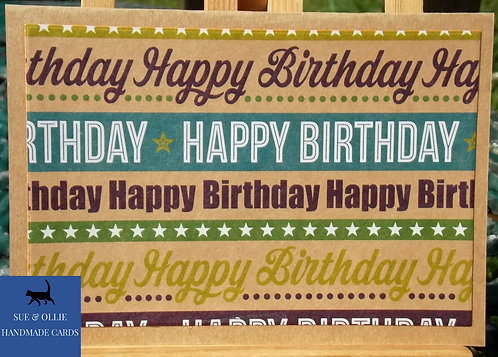 Brown Happy Birthday Card