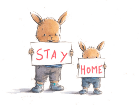 """« Stay home » avec Ptit Bunny - """"Stay Home"""" With Ptit Bunny"""