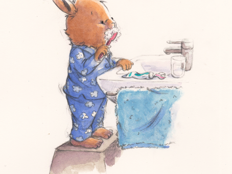 Ptit Bunny se brosse les dents ! - Ptit Bunny Brushes His Teeth!