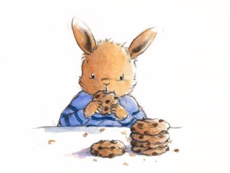 Pour le weekend, un p'tit extra : des cookies aux pépites de chocolat !