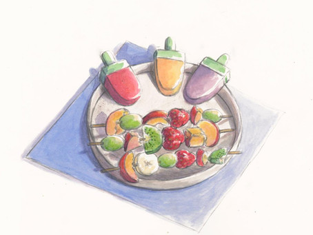 My Summer Recipes: Fruit Skewers and Popsicles