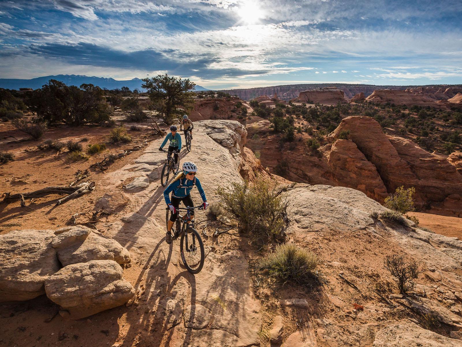Biking Moab, Slick Rock Trails
