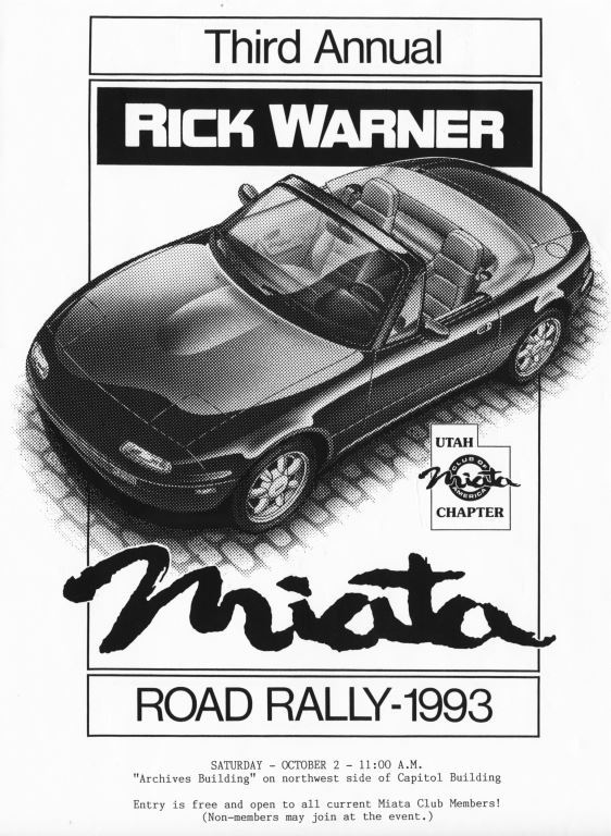 1993-10-2 Miata Rally T-Shirt Art