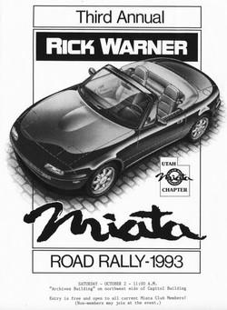 1993-10-2 Miata Rally T-Shirt Art