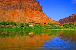 Red Cliffs Lodge from Colorado River