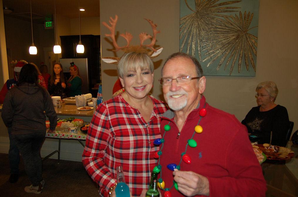 Teri, Spence, Christmas Party, 2017