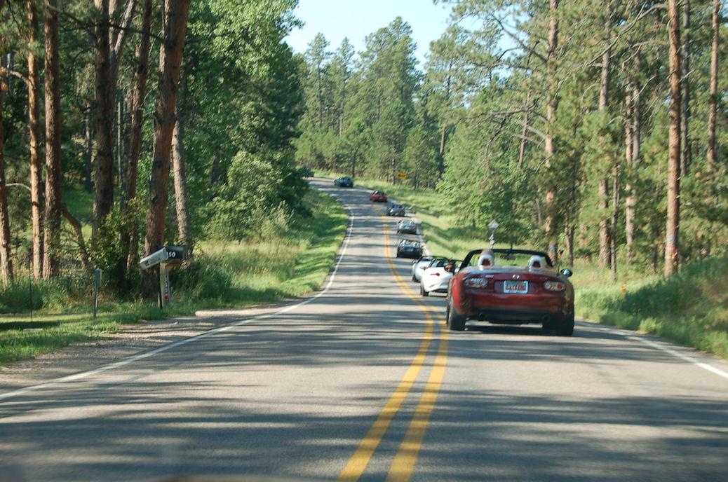 Mountain Road Miatas