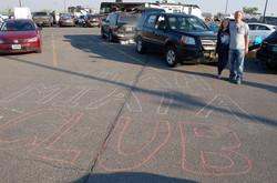 Joe, daughter, Chalk, Parking Lot