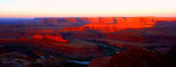 Dead Horse Point, Moab_Panoramic Sunset.