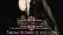 Sachas Supper Club - December 17, Charco Design and Build Presents: A Speakeasy Christmas 3rd Annual