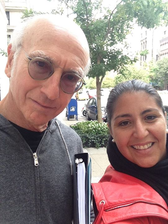 A Larry David and Sacha Selfie