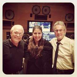 Recording at Capitol Studios in LA