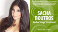 Sacha Sings Streisand at Martini's Above 4th Table and Stage May 19th