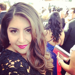 at The Emmys on the Red Carpet