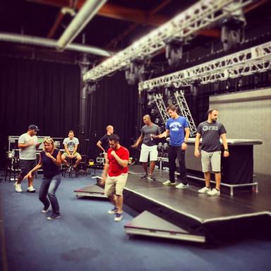 Fall Tour rehearsals