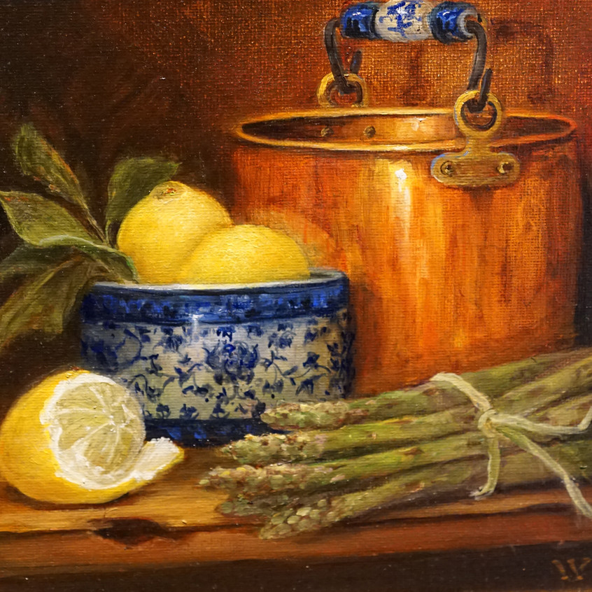 Copper Pot and Twist of Lemon by Wendy Rogers