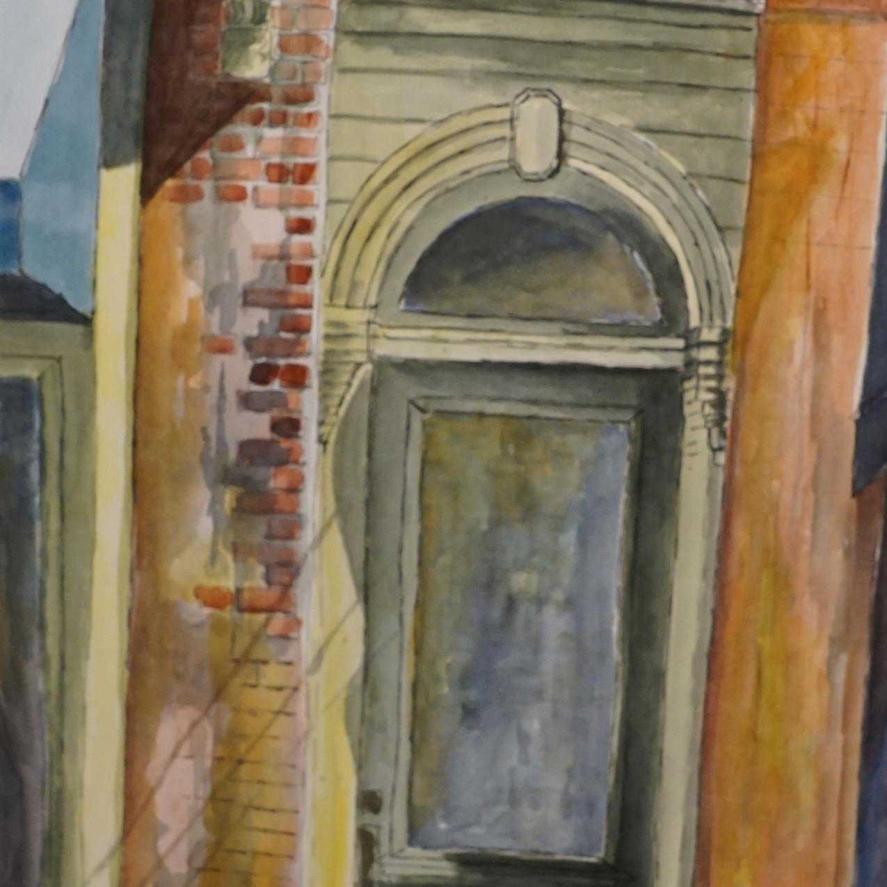 Green Door by Diann Simms watercolor & i