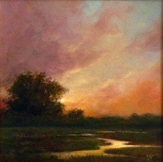 Oil, Twilight Time, 8 x 8 at Hang It Gal