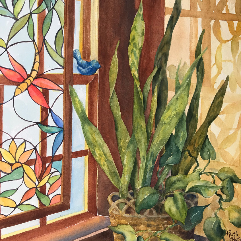 Stained Glass Shadows by R Hopkins