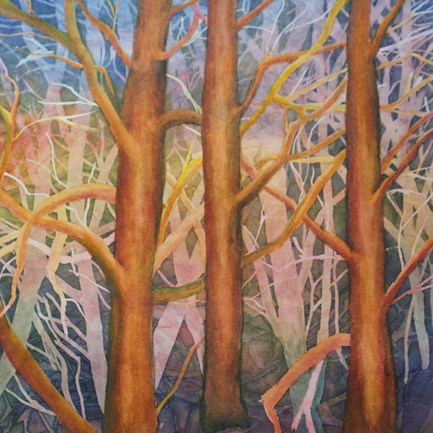 Forest Ballet by Rebecca Lawson Carruth watercolor