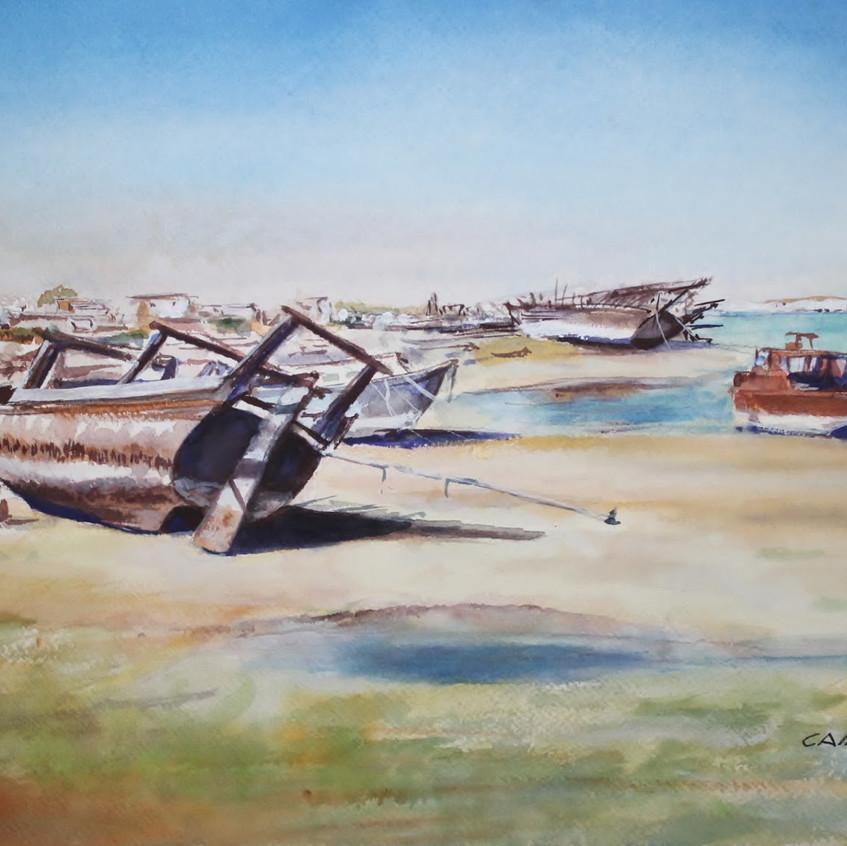 Boat Yard in Bahrain