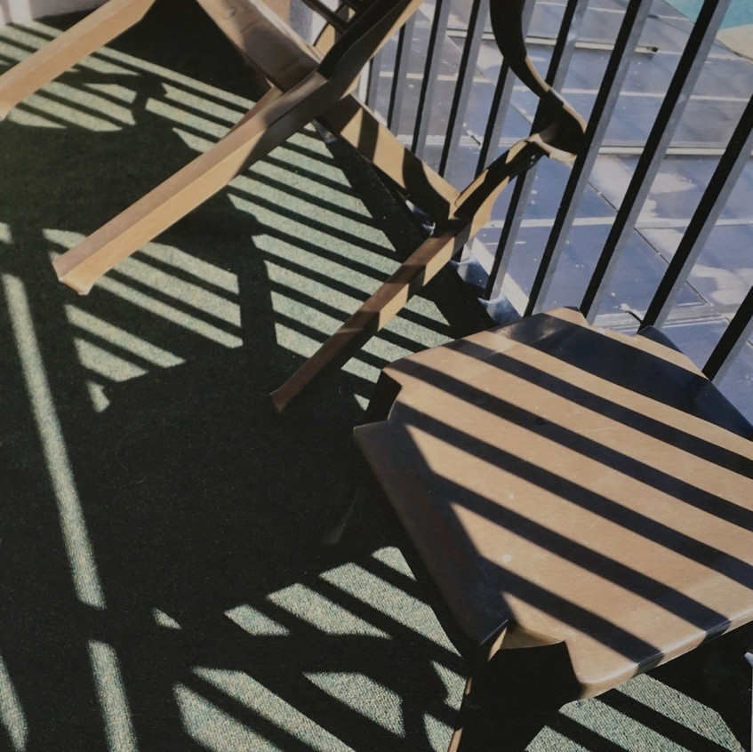 Chairs & Stripes by Marion Caroll