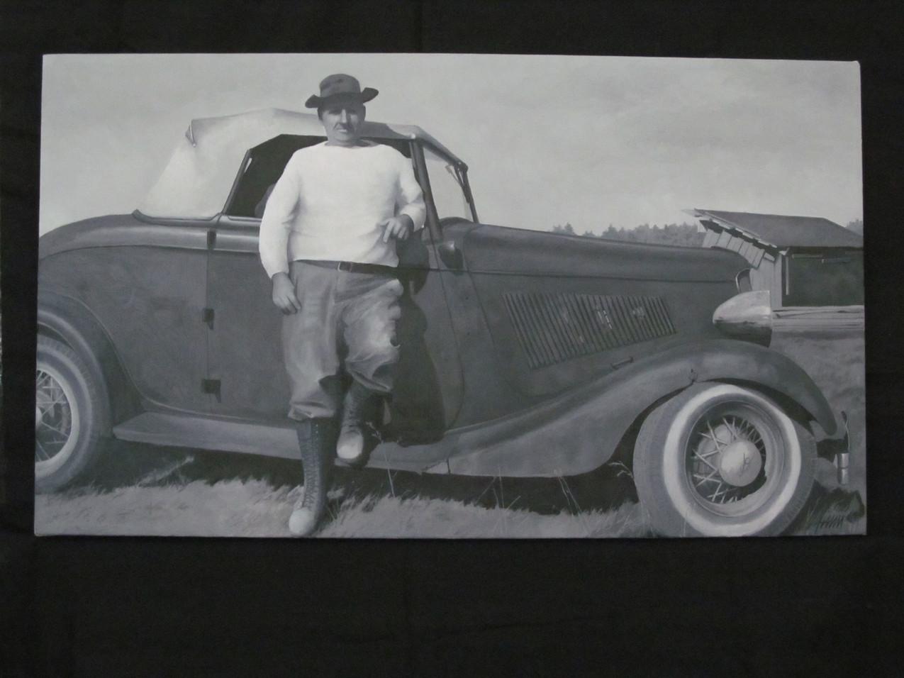 Grampa & Car painting_3