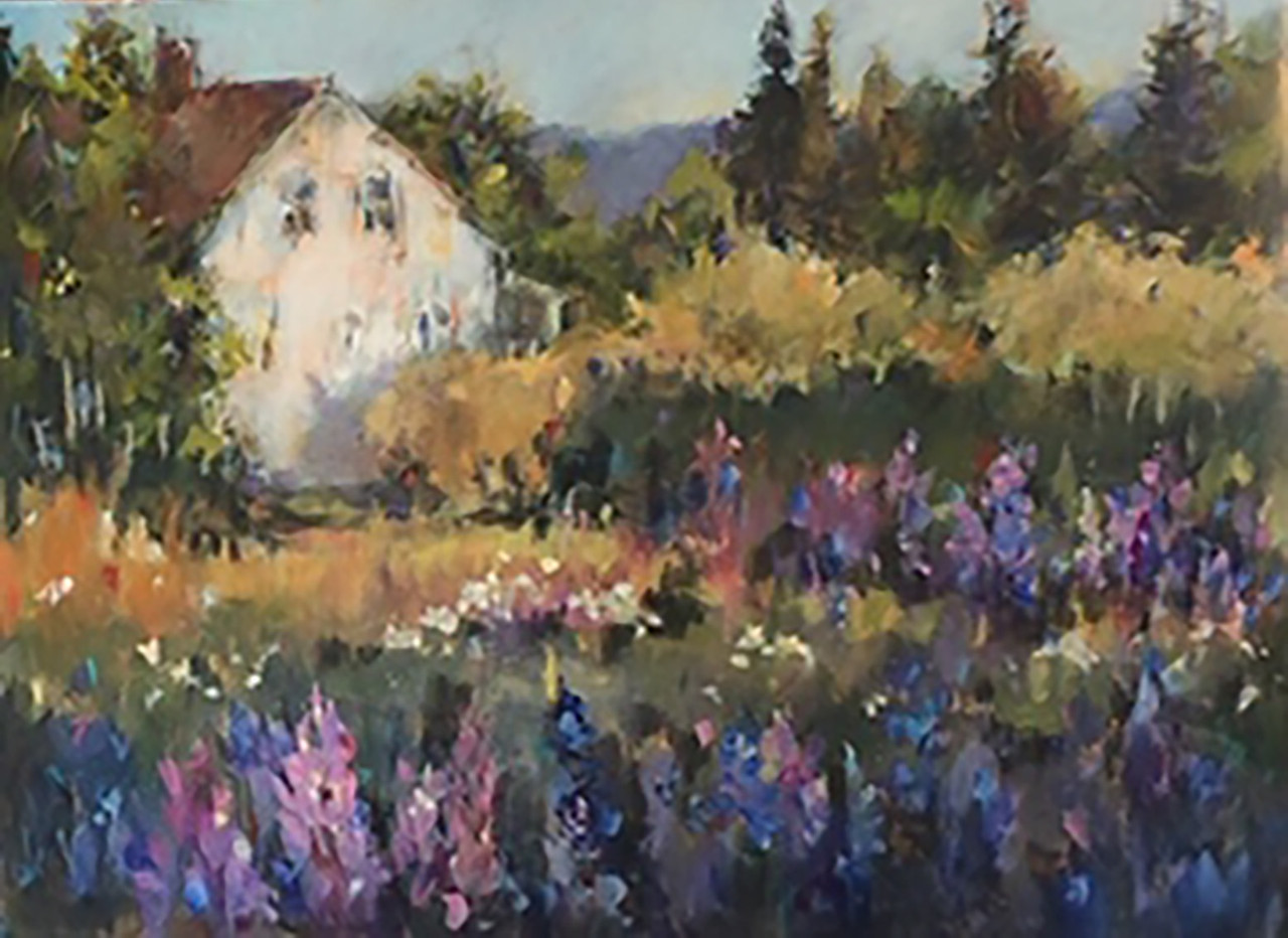 Cottage Lupines by Sue West