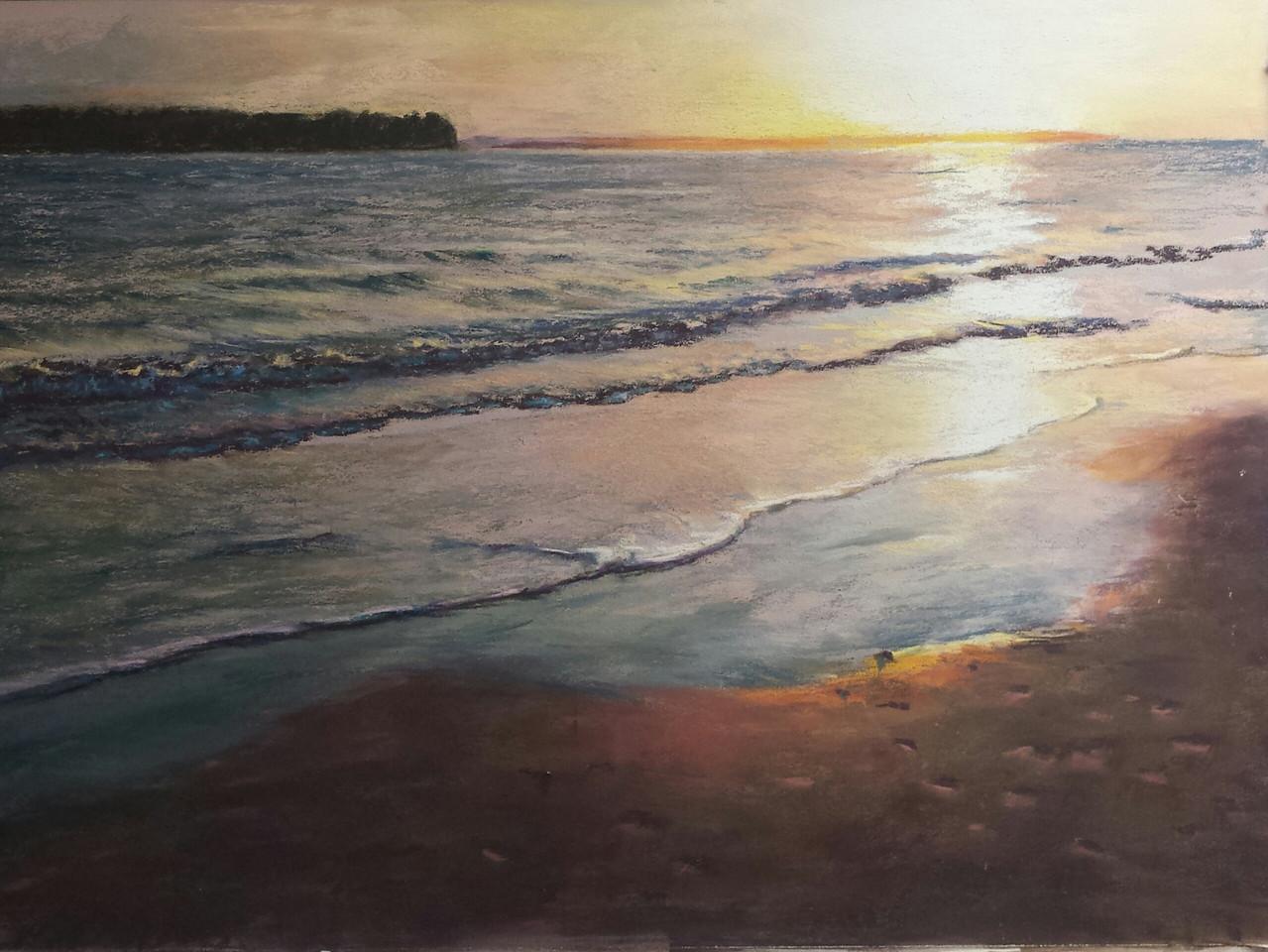 Sunset on the North Edisto pastel