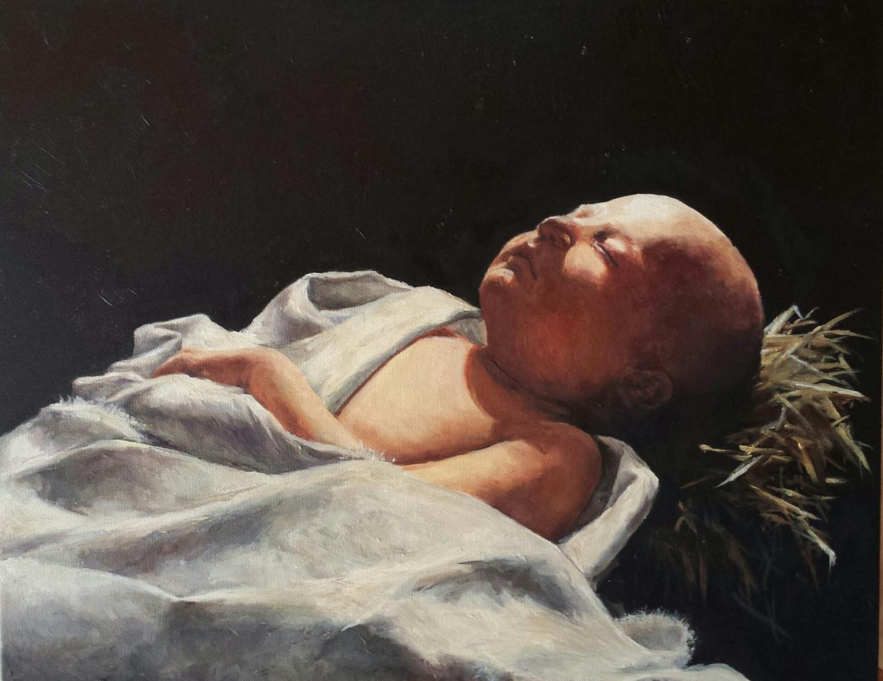 Isaiah 92 oil by Margaret Mattox