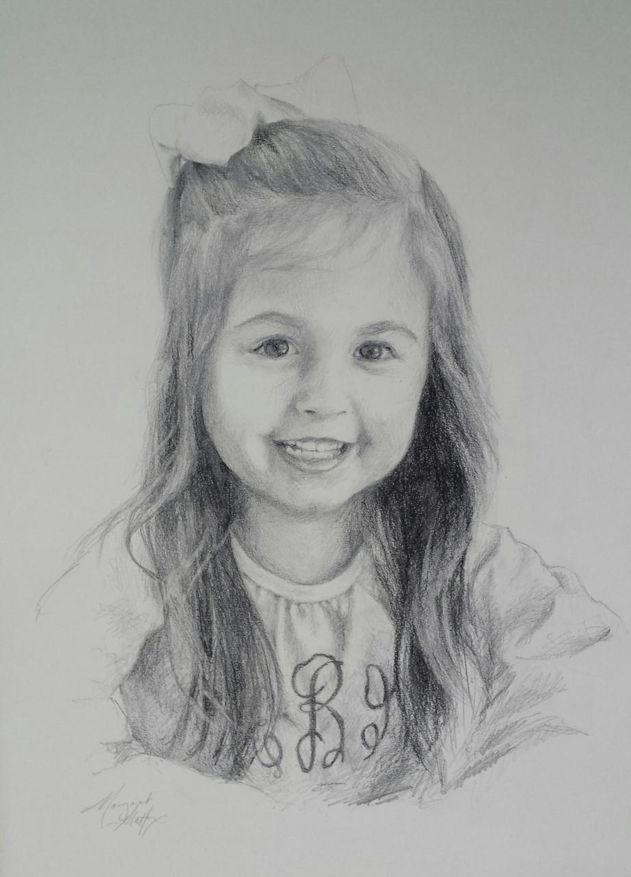 Margaret Mattox pencil portrait