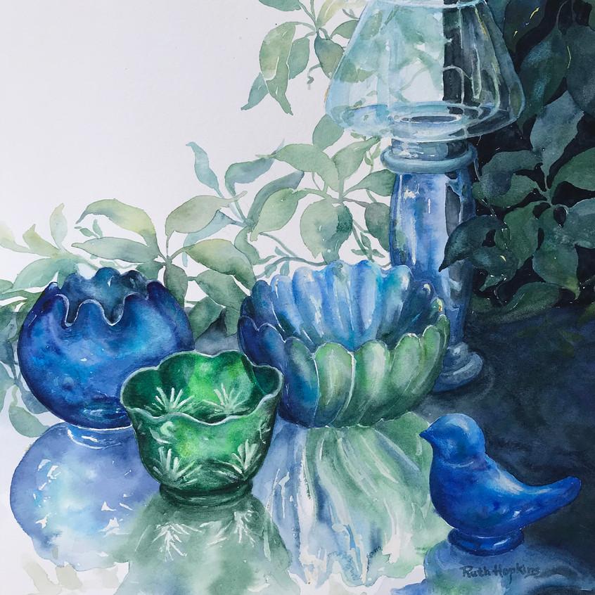Blue Reflectins by Ruth Hopkins