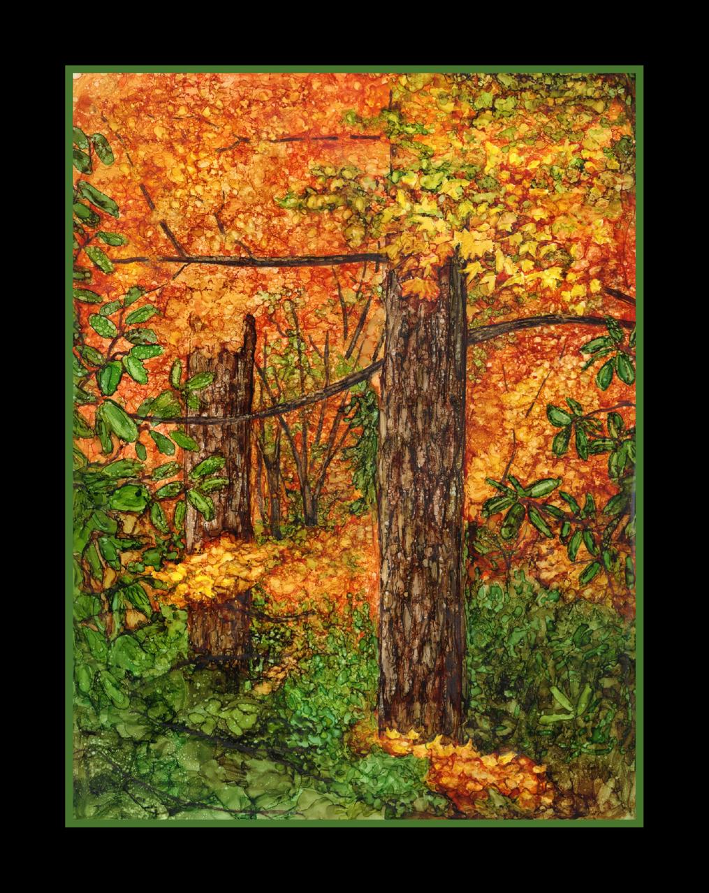 fall forest framed