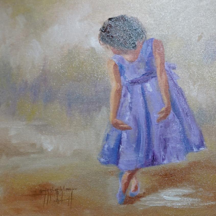 Dancing on Moonbeams by Taylor Dubeau oil