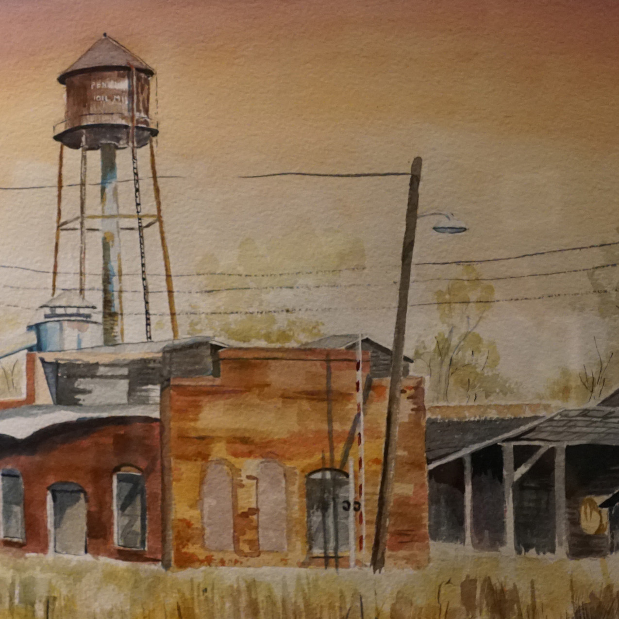 Pendleton Oil Mill by Jane Friedman wate