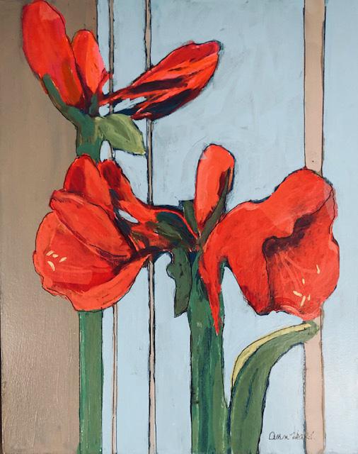 Red Amaryllis by Ann Heard