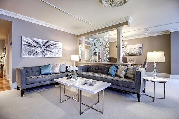 Eau Claire Avenue Calgary Condo Luxury interior design