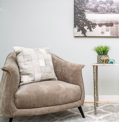 Calgary Airdrie Home Staging Sitting Area Stuctube Chairs Caydence Photography