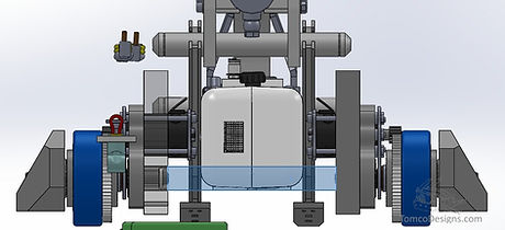 UHMW Hydraulic robot design powerpack