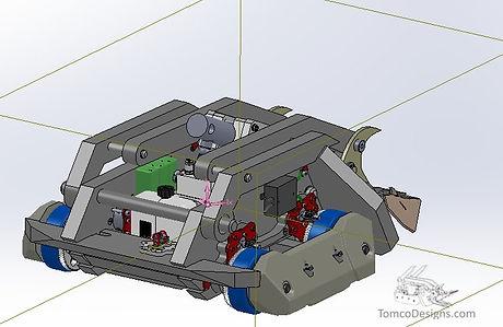 UHMW battle uses robot battlebot cad solidworks