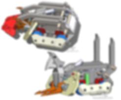 battlebot finished cad mechanical design hydraulic