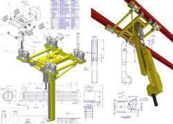 Overhead track mount telescopic mast
