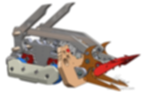 soliworks hydraulic battle robot design finished