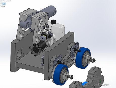 battle robot hydraulic cylinder design