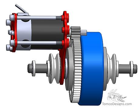 live shaft wheel assy spur gear single stage dc motor