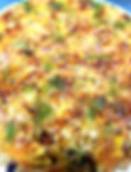 Wholemeal tart. Creamy mustard leeks, ch