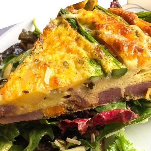 Roast Kumara, Spinach & Three Cheese Frittata
