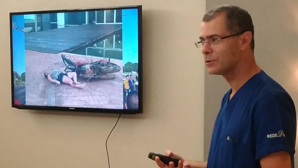 Dr. Paulo Barbosa no lançamento da campanha Dirija Sem Desculpas