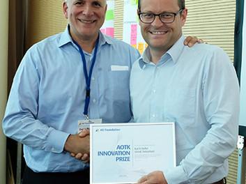 Sueco recebe Prêmio Inovação AOTK 2018