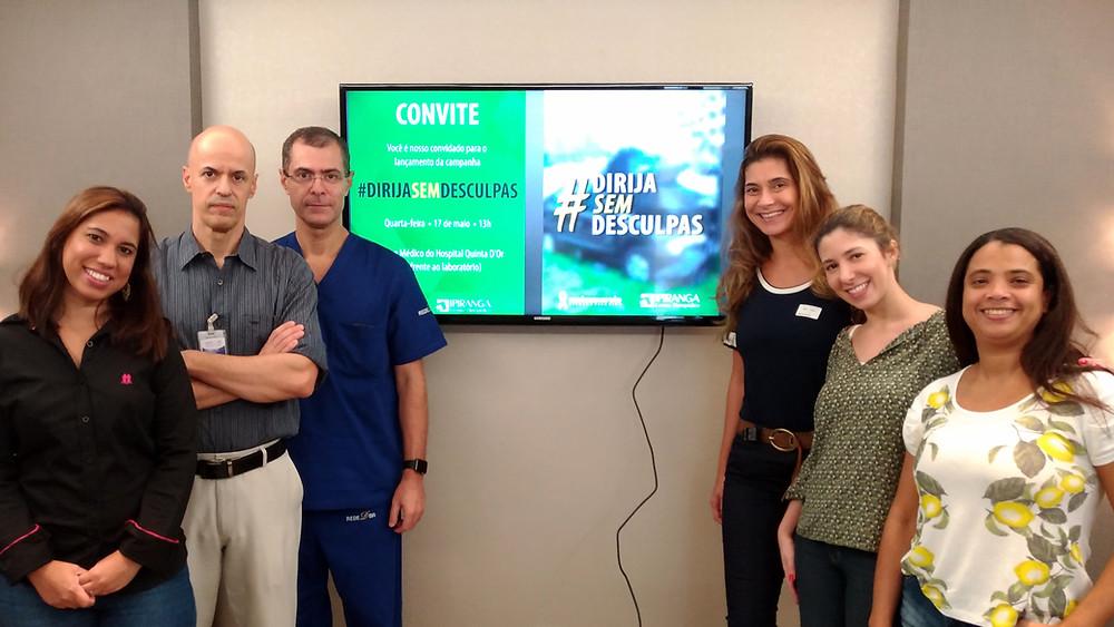 Equipe do Centro Ortopédico Ipiranga presente no lançamento da campanha Dirija Sem Desculpas